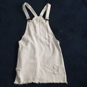 Destroyed overall dress